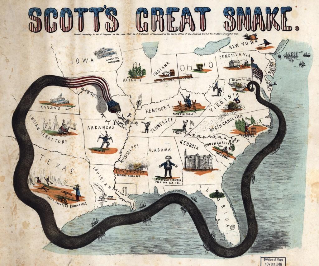 Anaconda Plan Map